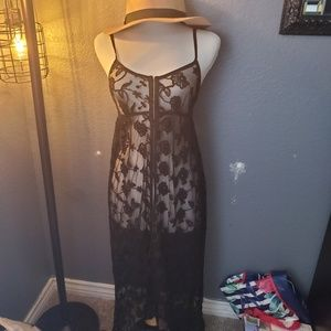Super sexy lace maxi cover up